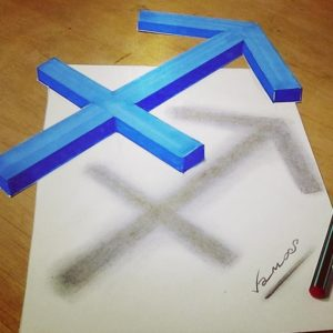 Crossed Arrow 3d by sandor vamos