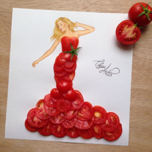 tomatoes dress by edgar artis
