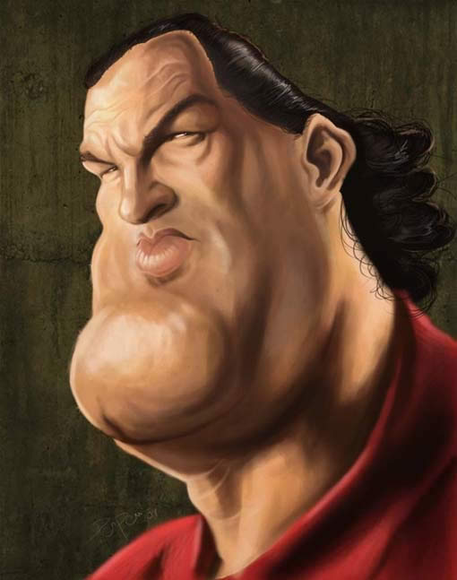 celebrity caricatures -steven seagal