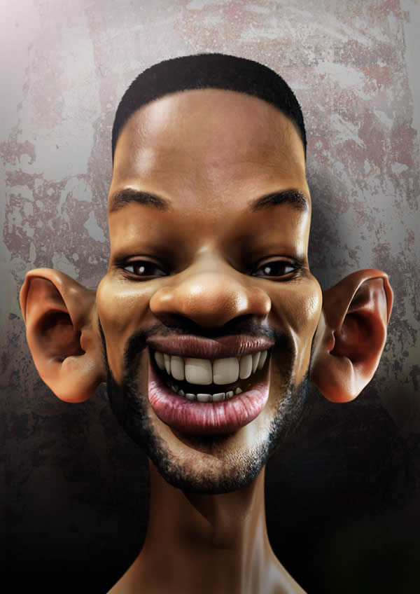 Celebrity Caricatures- will smith